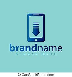 電話, ベクトル, テンプレート, ダウンロード, ロゴ, アイコン