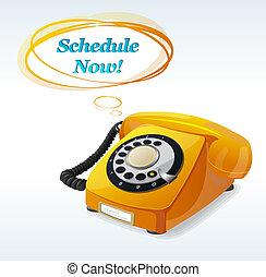 電話, ベクトル, 古い