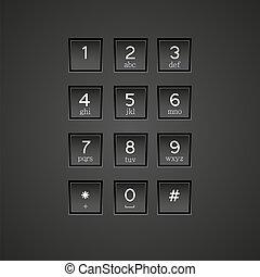 電話, ベクトル, eps10, キーパッド, バックグラウンド。