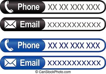 電話, メール, 数, 住所