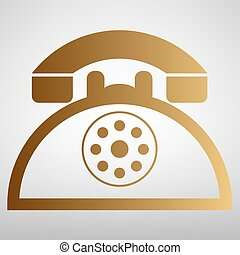 電話, レトロ, 印
