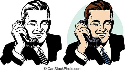 電話, 人