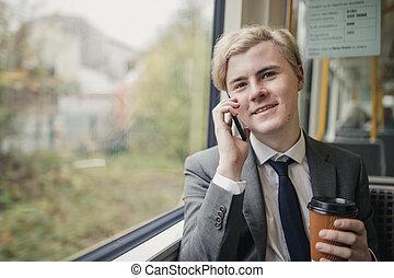 電話, 仕事, 呼出し, 方法, 作成