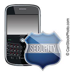 電話, 保護, セキュリティー, モビール