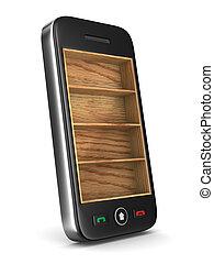 電話, 在懷特上, 背景。, 被隔离, 3d, 圖像