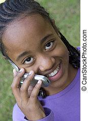 電話, 女の子