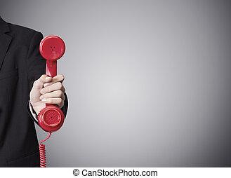 電話, 手