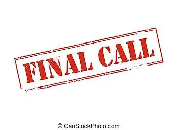 電話, 決賽