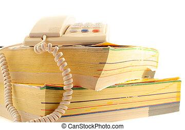 電話, directories