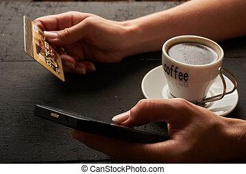 電話, e-shopping