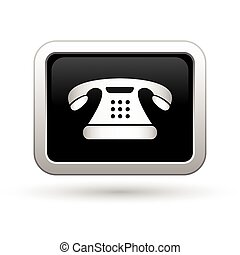 電話, icon., イラスト, ベクトル