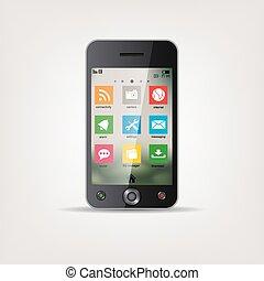 電話, touchscreen, モビール, 地下鉄
