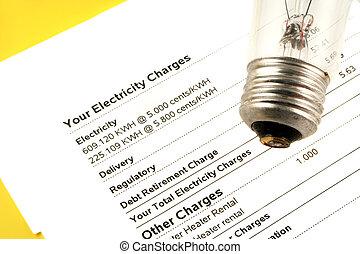 電, 帳單