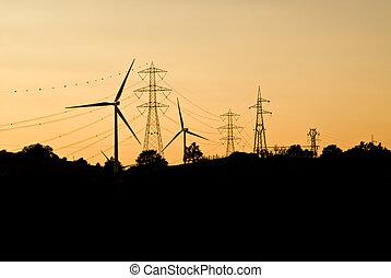 電, suppliers