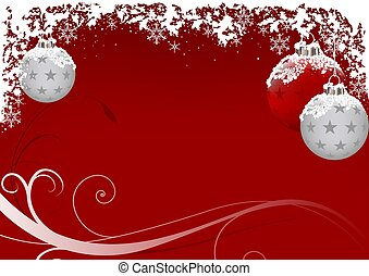 霜, クリスマス, 赤