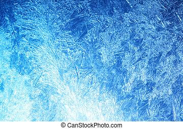 霜, 上に, ガラス