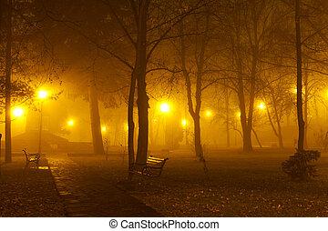 霧, 公園