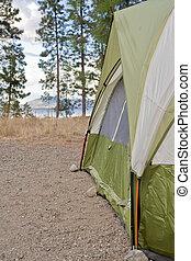 露營者, 帳篷, 在, the, 荒野