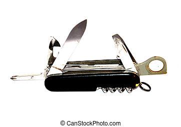 露营者, 刀, 或者, multi-tool, 刀