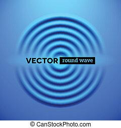 青いさざ波, 抽象的, 背景, 波