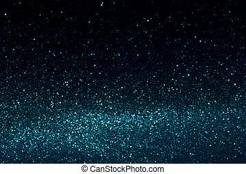 青い、そして白い, 抽象的, bokeh, lights., 焦点がぼけている, 背景