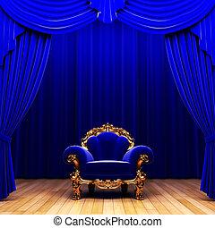 青いびら門, ビロード, 椅子