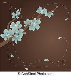 青いガラス, ブランチ, 咲く