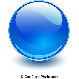 青いガラス, 球