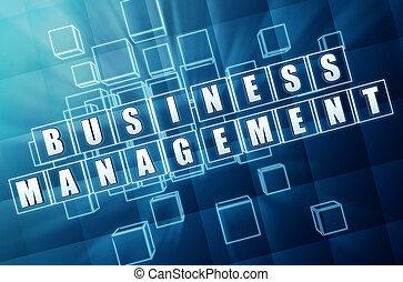青いガラス, 管理, ビジネス, 立方体