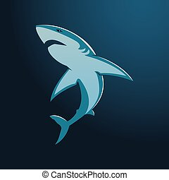 青いサメ, グレイト・ホワイト, 印