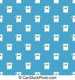 青いシャツ, パターン, seamless, ベクトル, t, 子供