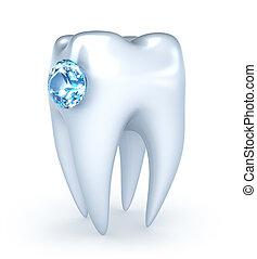 青いダイヤモンド, 歯