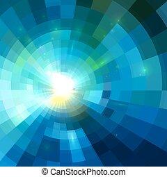 青いトンネル, 抽象的, 背景, 照ること