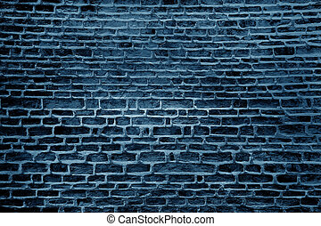 青いペンキ, 壁, グランジ, 背景