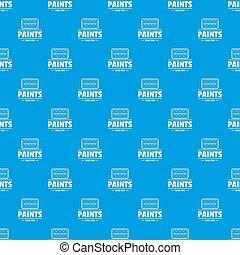 青いペンキ, 道具, seamless, パターン
