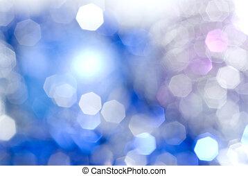 青いライト, クリスマス, 背景
