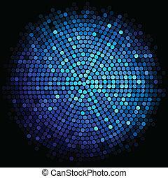 青いライト, ベクトル, 背景, ディスコ