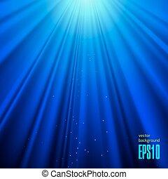 青いライト, ベクトル, 背景