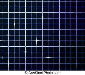青いライト, レーザー, 背景, 格子