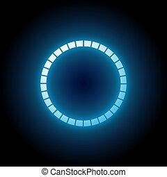 青いライト, 円
