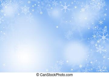 青いライト, 壁紙, 冬