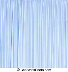 青いライト, 手ざわり, カーテン