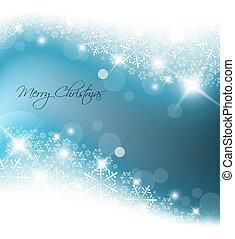 青いライト, 抽象的, クリスマス, 背景