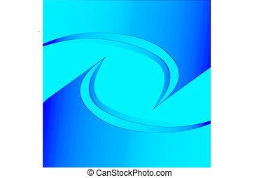 青いライト, 抽象的, ベクトル, 背景