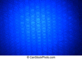 青いライト, 抽象的, ラッパー, プラスチック, 暗い背景