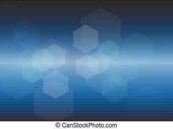 青いライト, 抽象的, 背景, デジタル