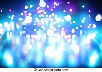 青いライト, 抽象的, 背景