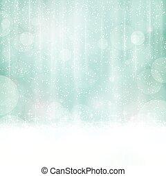 青いライト, 抽象的, blurry 背景