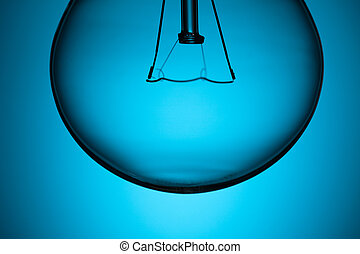 青いライト, 細部, 背景, 電球