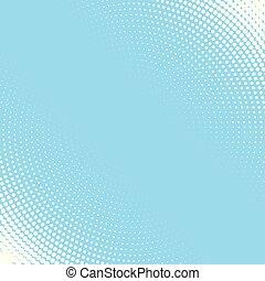 青いライト, halftone, 背景 パターン, 白, 円